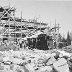 1938.a. varakevadel vabriku hoone ehituse vaade.