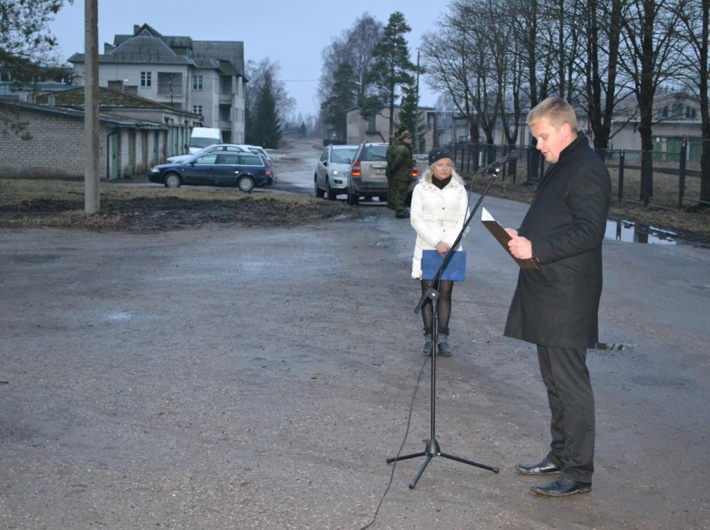 Vallavanem Kalev Kaljuste pühadetervitus Tootsi rahvale ja külalistele 23.02.2014